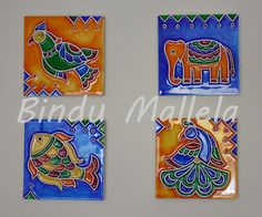 crazy for colors!: Madhubani inspired stained wood...