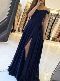 Off Shoulder A-line Long Prom Dress with Applique, Popular Dance Dress ,Fashion . Off Shoulder A-line Long Prom Dress with Applique, Popular Dance Dress ,Fashion Wedding Party Dress - dresses Pretty Prom Dresses, Prom Dresses Blue, Sexy Dresses, Summer Dresses, Wedding Dresses, Casual Dresses, Navy Formal Dresses, Long Dresses, Dark Blue Dresses