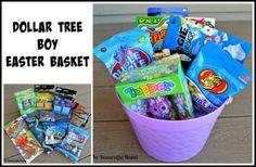 dollar tree Easter basket boy