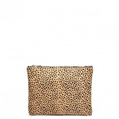 Leopard Leopard Haircalf Pouch | Dolce | Free Shipping on Orders $50+