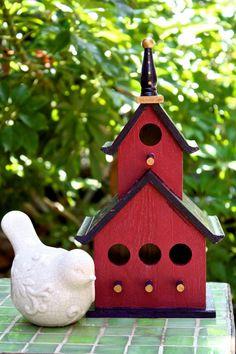 Nice Red Bird House!
