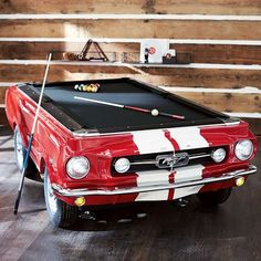 Mustang Pool Table | PBteen  How incredible is this?! Swoon!