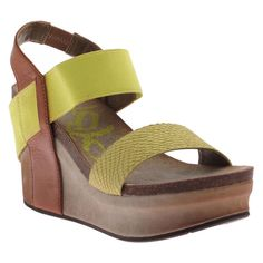 Bushnell Wedge Lime lime, brown, women's shoes