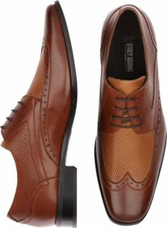 Stacy Adams Whitby Brown and Tan Wingtip Shoes - Dress Shoes   Men's Wearhouse