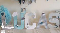 decoration chambre nefant cadeau naissance bapteme theme etoile nuage lettre prenom decorees