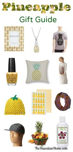 pineapple gifts and pineapple theme #giftguide #tropical