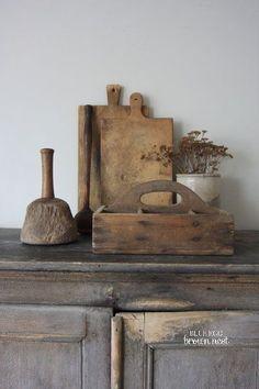 The Garden Room - Küchengeschirr aus Holz Primitive Homes, Primitive Antiques, Country Primitive, Primitive Decor, Primitive Bedroom, Primitive Kitchen, Prim Decor, Country Decor, Rustic Decor