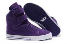 Justin Bieber Shoes For Girls:Supras TK Society High Top All Purple Suede White