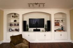Designing Traditional Kitchen Using Maple Cabinet, Built-in Bookshelve & Bookcase -  Built in Wall Unit,  TV Wall Unit, Built in Book Shelf &  Painted Maple Cabinet