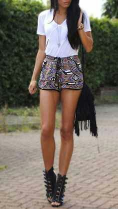 Gladiator sandals and outfit