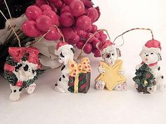 Dog Christmas Tree Ornaments Miniature Resin Black by Holiday365