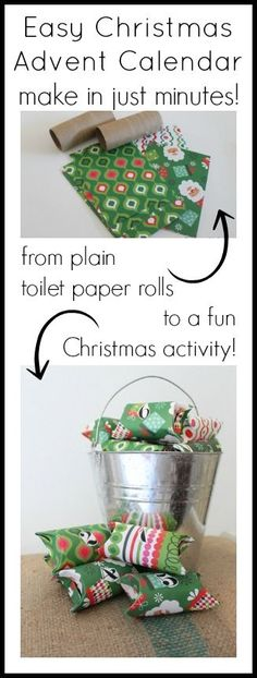 Turn toilet paper rolls into a Christmas advent calendar in minutes!