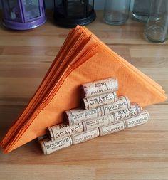 recycled wine cork napkin holder