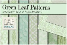 32 Leaf Pattern Fabric Textures by Lab Designs on @creativemarket
