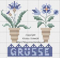 Flowerpots  free from kissy-cross