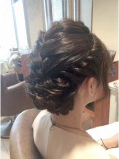 編み込みヘアセット(5)卒業式 結婚式