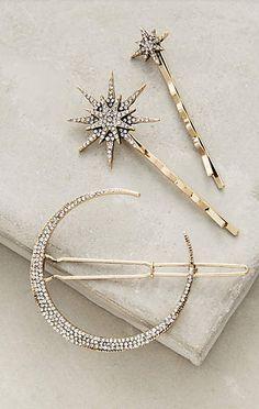 crystal hair pin set