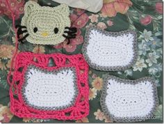 Hello kitty granny square how to