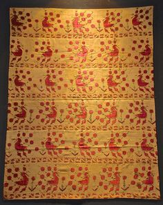 very rare old Indian silk embroidery