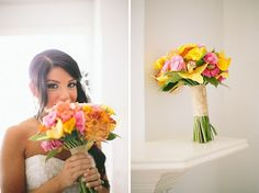 Love this bright bouquet!
