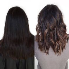 Brown Hair Shades, Light Brown Hair, Brown Hair Colors, Dark Hair, Brown Hair Balayage, Hair Color Balayage, Hair Highlights, Balayage Bob Brunette, Asian Balayage