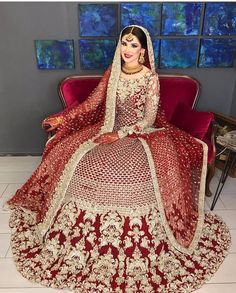 A-Line Wedding Dresses Collections Overview 36 Gorgeou… Asian Bridal Dresses, Desi Wedding Dresses, Asian Wedding Dress, Pakistani Wedding Outfits, Indian Bridal Outfits, Designer Bridal Lehenga, Indian Bridal Lehenga, Pakistani Wedding Dresses, Designer Anarkali