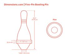 The Five-Pin Bowling Pin in Five-Pin Bowling has a heavy rubber band around its middle section that causes them to move further when struck by the Five-Pin Bowling Ball. Each of the 5 pins is worth a different scoring point value. The headpin at the center is worth 5 points, the pins at both sides are worth 3 points each, and the pins at the ends are worth 2 points each. Together the five pins have a worth of 15 points in each frame. Downloads online #sports #bowling