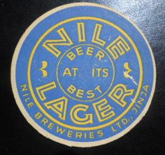 Nile  Lager, Jinja Uganda Beer Coaster Uganda, Beer Coasters, Vintage Packaging, Beer Labels, East Africa, Brewery, Typography, African, Posters