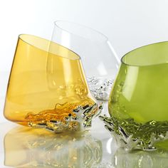 Vasi in vetro soffiato - CORALLO #vetrosoffiato #argentopuro #arte #vasi