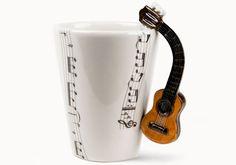 Accoustic Guitar | Music | Coffee Mugs | Blue Witch Ceramics