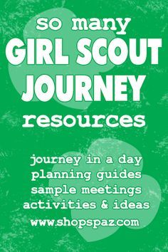 So Many Journey Resources | Shop Spaz Girl Scout Leader Help