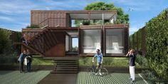 Escritório de arquitetura em container by Atelier O'Reilly