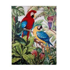 #Hidalgoimport Los cuadros con imágenes de vegetación, toque tropical y predominio del verde, son tendencia esta primavera/verano 2017. #decoración #verde #cuadros #tendencia #primavera #verano #2017 #animal #selva #loros