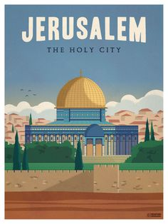 Jerusalem Poster by IdeaStorm Studios. ©2016. Available now at ideastorm.bigcartel.com