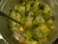 Суп с крапивой и пекинской капустой