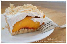 Cookies n' cream peach dessert. Yum!