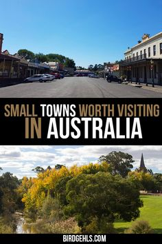 21 Small Towns in Australia Worth Visiting - Birdgehls - Want to get off the beaten path in Oz? Put any of these small towns in straight onto you - Cool Places To Visit, Places To Travel, Travel Destinations, Places To Go, Holiday Destinations, Australia Travel Guide, Visit Australia, Roadtrip Australia, Travel Guides