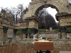 Behind the Pinhole - Roman Ruins in Schönbrunn Designed by Johann Ferdinand Hetzendorf von Hohenberg, built in originally called Ruin of Carthage ( DE Carthage, Vienna, Roman, Cartago