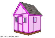 6x6 Simple Playhouse Plans | MyOutdoorPlans | Free Woodworking Plans and Projects, DIY Shed, Wooden Playhouse, Pergola, Bbq