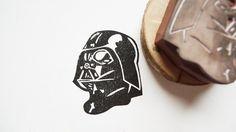 Star Wars Darth Vader Rubber Stamp. $20,00, via Etsy.
