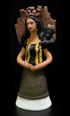 Frida and her monkey by Guillermina Aguilar
