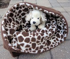 Giraffe Snuggle Sack Pet Sleeping Bag Dog Cat Sleep Cuddle