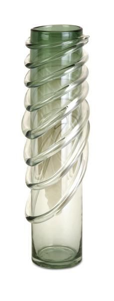 Chaley Wrapped Glass Cylinder Vase
