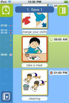 TASUC SCHEDULE is a very simple, picture-based schedule application for iPhone/iPod touch, especially for small children to easily create his/her own daily time-table by using image cards with sounds & voices attached.