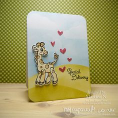 Bundle of Joy stamps by Two Paper Divas - Baby card #368