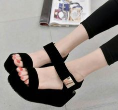 ea8753d618e Party wear sandals buy it from Club Factory at lowest price. Black Platform  Sandals