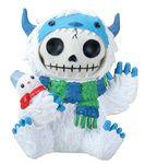 3.5 Inch Furry Bones White and Blue Yeti Halloween Costume Figurine