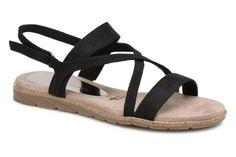 Sandalen Tamaris Aurone Zwart detail Birkenstock Mayari, Shoes, Fashion, Sandals, Black, Women's, Moda, Zapatos, Shoes Outlet