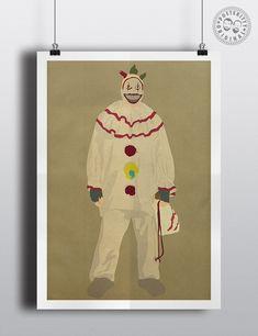 Twisty the Clown (American Horror Story) - Minimalist Poster — Posteritty Minimal Poster, Poster On, Minimalist Art, American Horror Story, Horror Stories, All Print, Wall Art, Prints, Frames