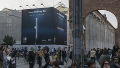 #Samsung #GS6 #billboard #Backlite  #OOH #Milano #UrbanVision #Addendo